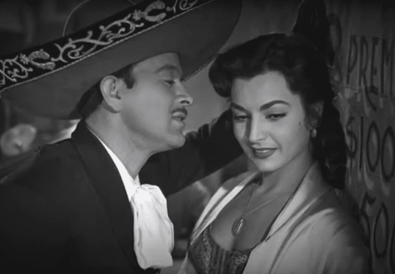 Pedro Infante y Elsa Aguirre. | Imagen: YouTube/Historias del Cine Mexicano