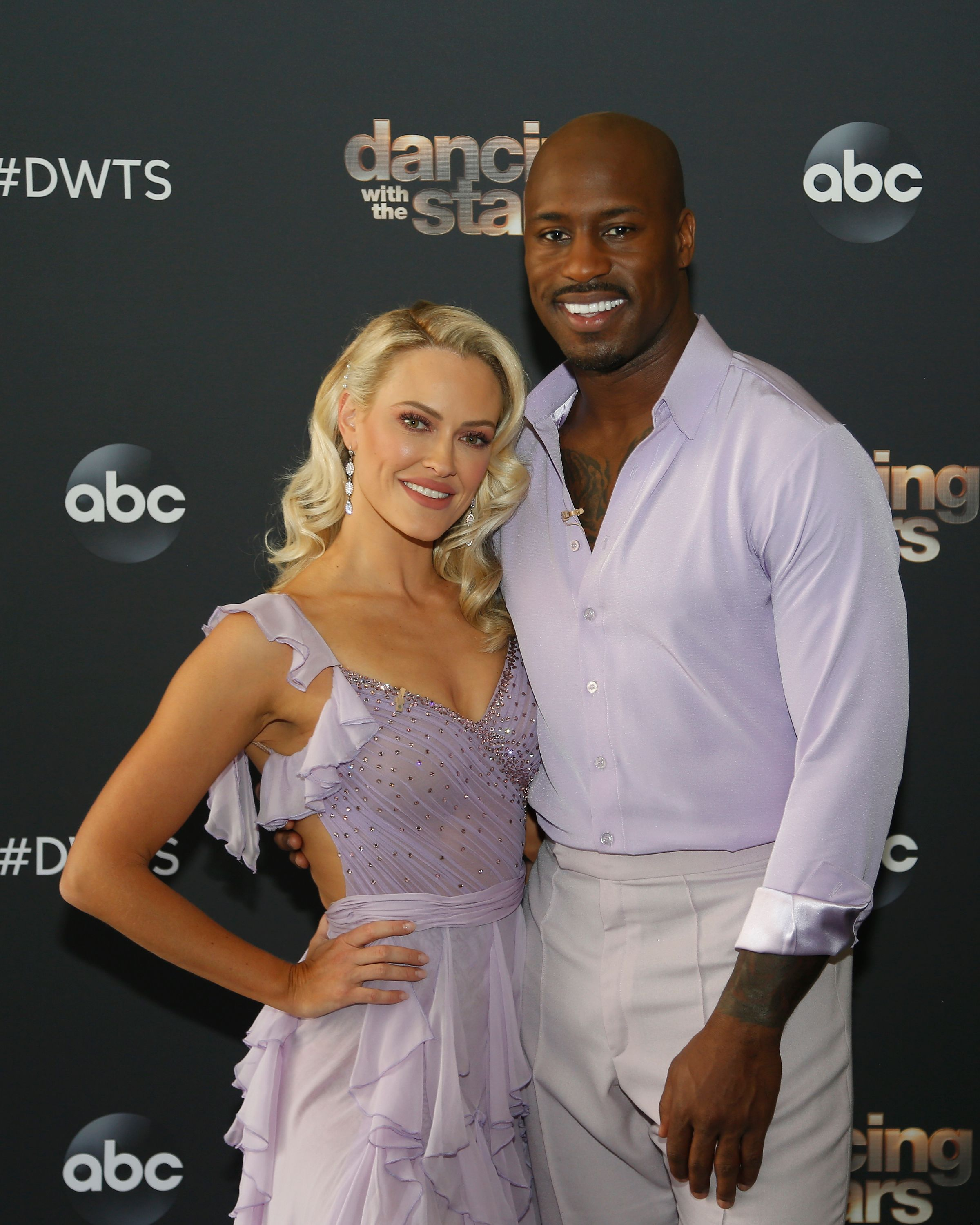 "Vernon Davis and Peta Murgatroyd on the season 29 premiere of ""Dancing with the Stars"" on September 14, 2020 