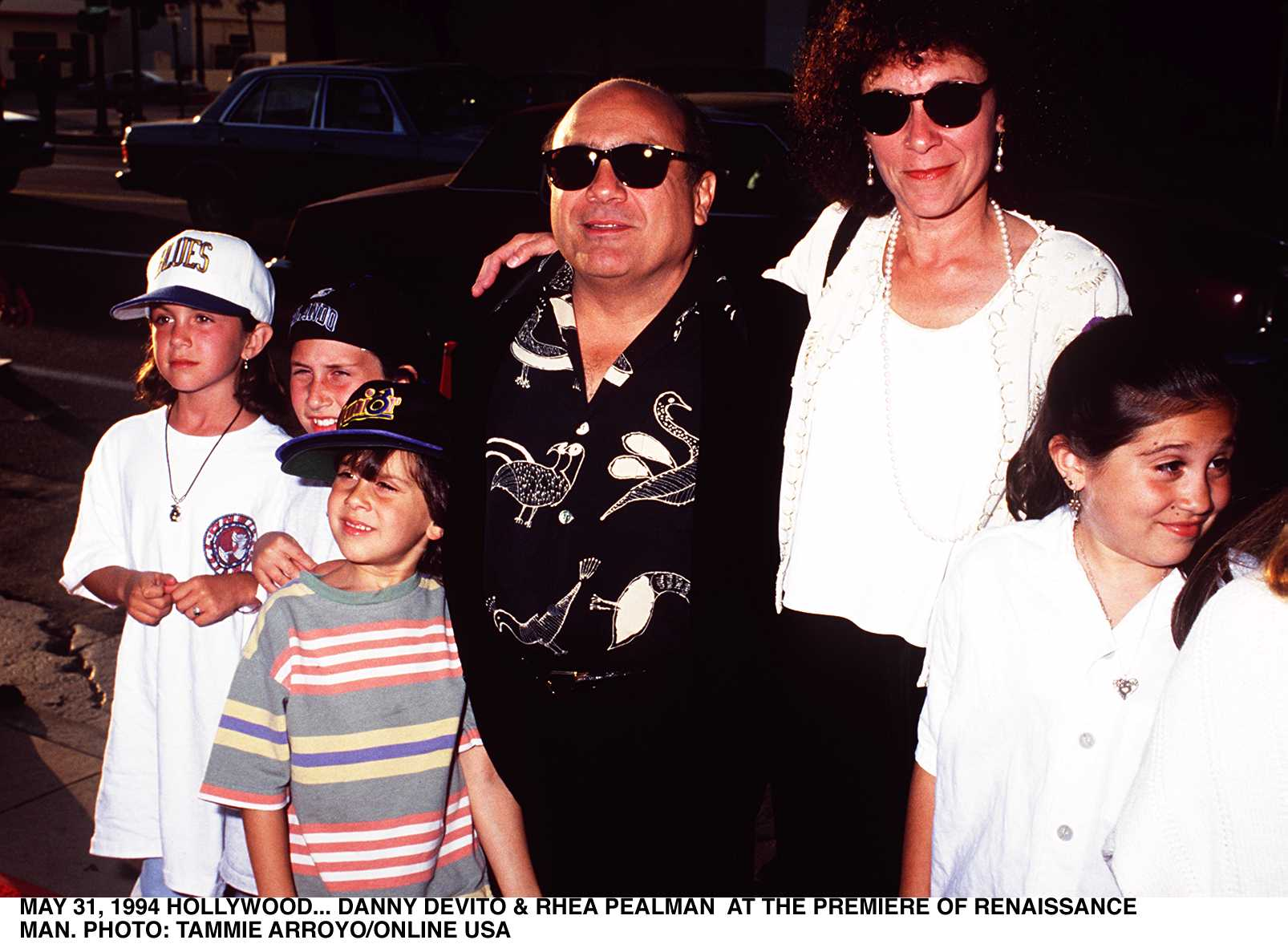 Danny Devito, wife Rhea Pearlman And Children At A Film Premiere | Source: Getty Images