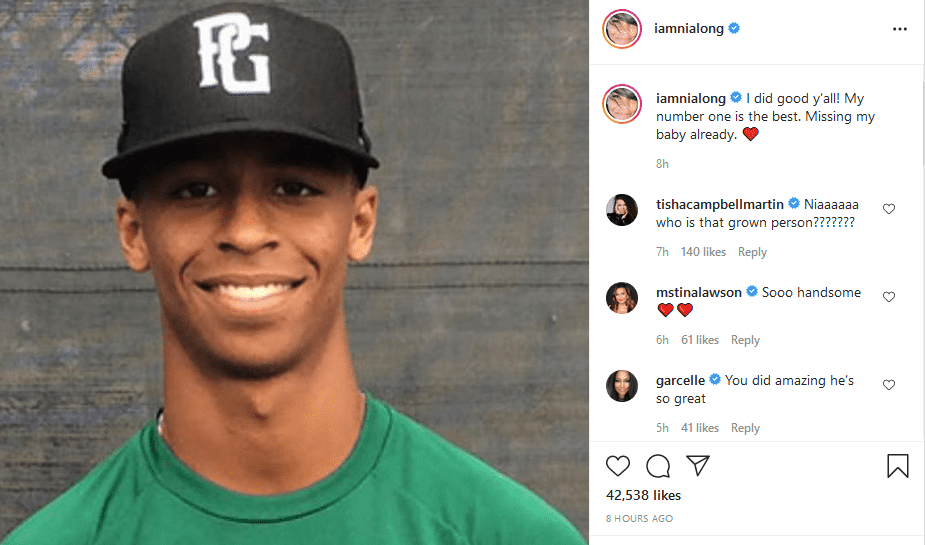 Nia Long shares a picture of her son,  Massai Zhivago Dorsey on Instagram | Photo: Instagram/iamnialong