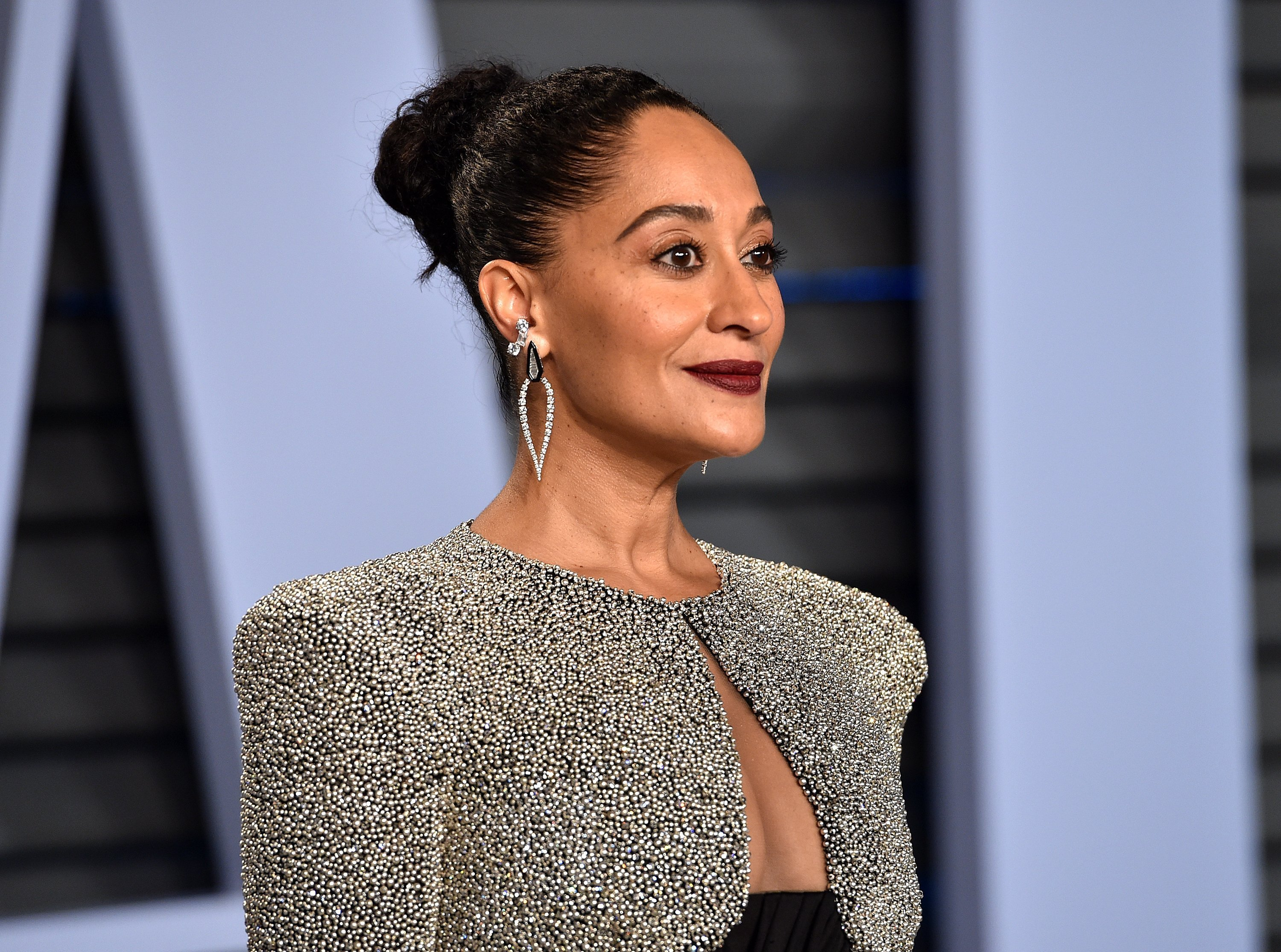 Tracee Ellis Ross at the Vanity Fair Oscar Party on Mar. 4, 2018 in Beverly Hills, California | Photo: Getty Images