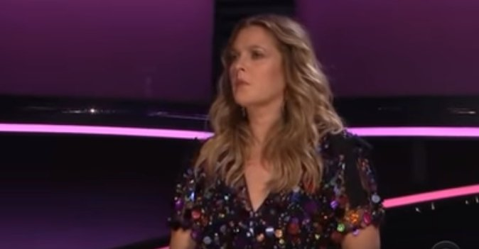 """Drew Barrymore looks on while Manami Ito of Japan plays on CBS's """"The World's Best"""" 2019 