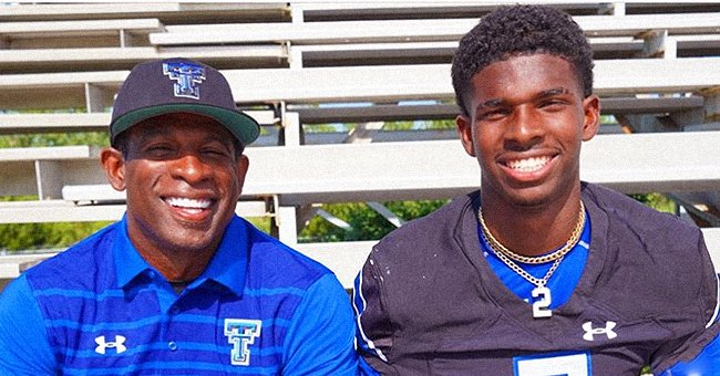 Former NFL Star Deion Sanders Shares Pic with Son Shedeur Who Is Following in His Footsteps