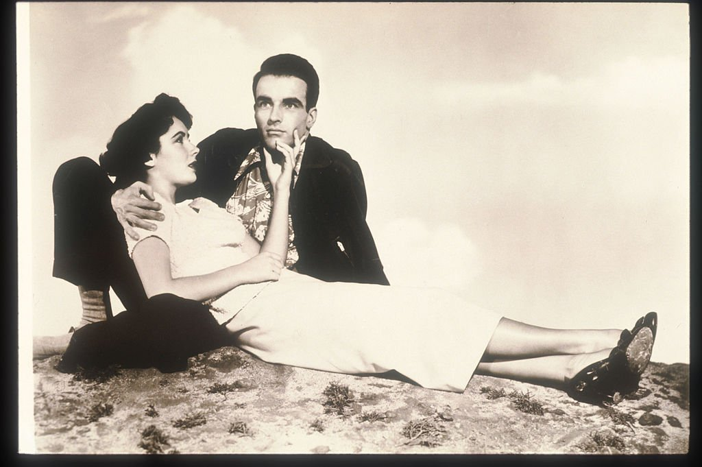 "Montgomery Clift and Elizabeth Taylor in 1951 while filming ""A Place in the Sun"" 