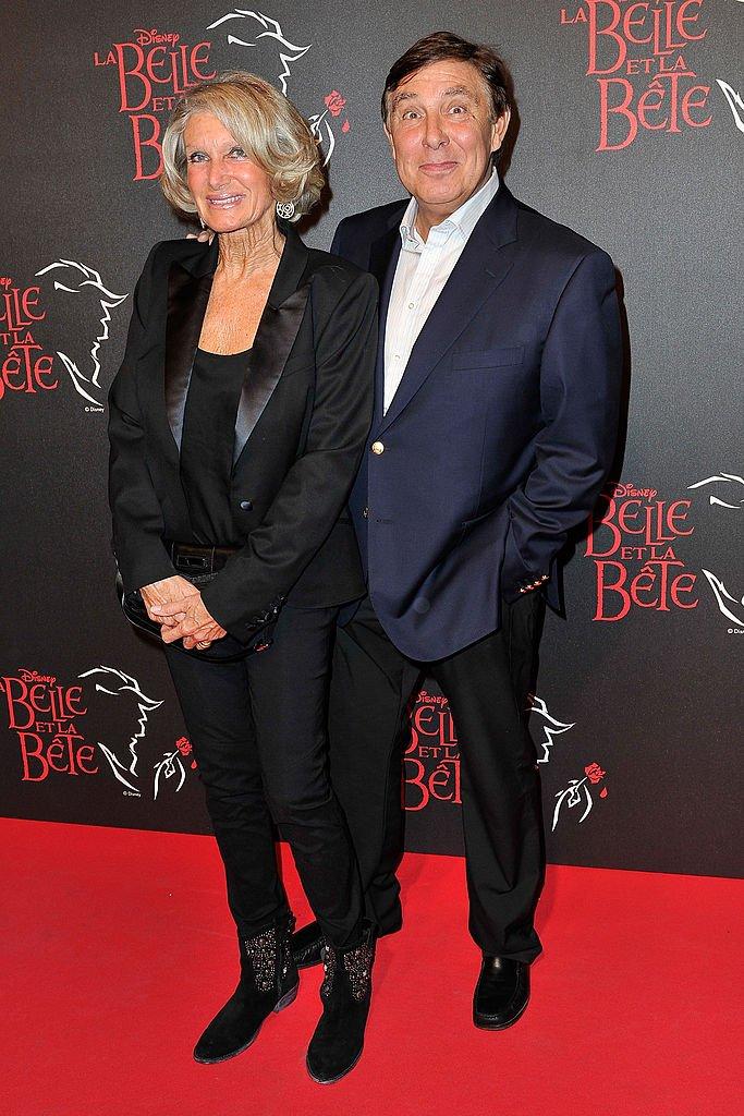 Jean-Pierre Foucault et Evelyne Jarre en 2013. l  Source : Getty Images