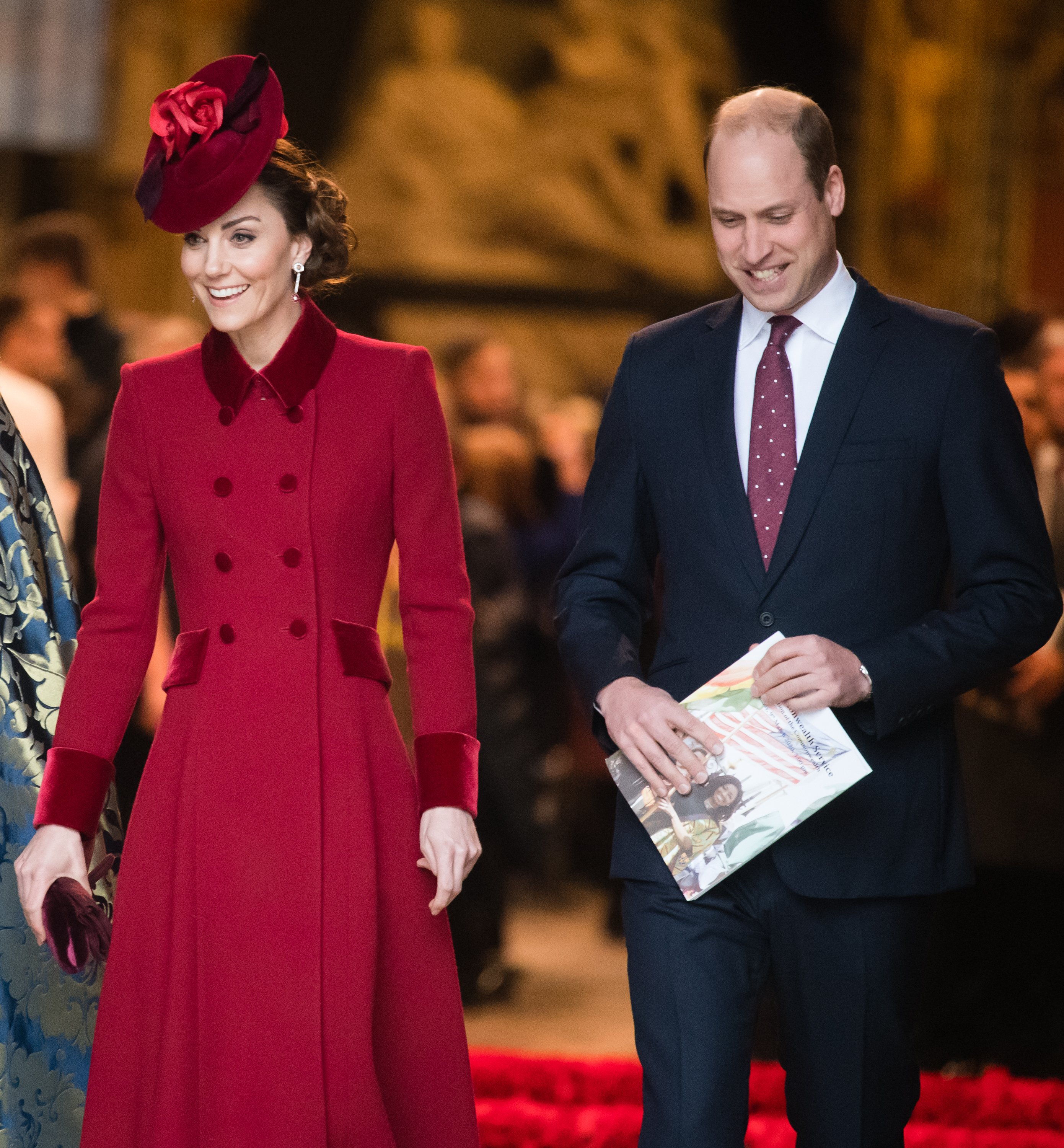 Kate Middleton and Prince William attend the Commonwealth Day Service 2020 on March 09, 2020, in London, England. | Source: Getty Images.