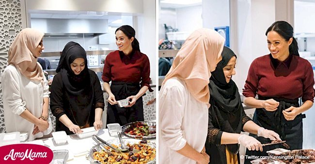 Meghan Markle helps prepare about 300 meals for the homeless on the threshold of Thanksgiving