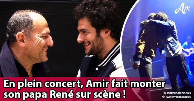 Amir surprend le public en évoquant son père, René, sur scène en plein concert