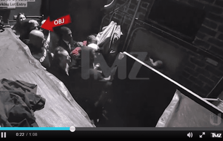 A screenshot from the footage of the attack showing Odell Beckham Jr | Photo: TMZ