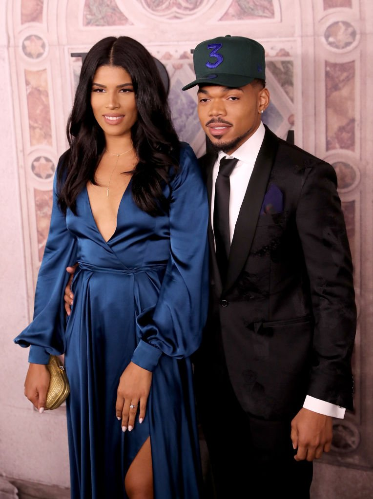 Kirsten Corley and Chance the Rapper attend the Ralph Lauren fashion show during New York Fashion Week at Bethesda Terrace | Photo: Getty Images