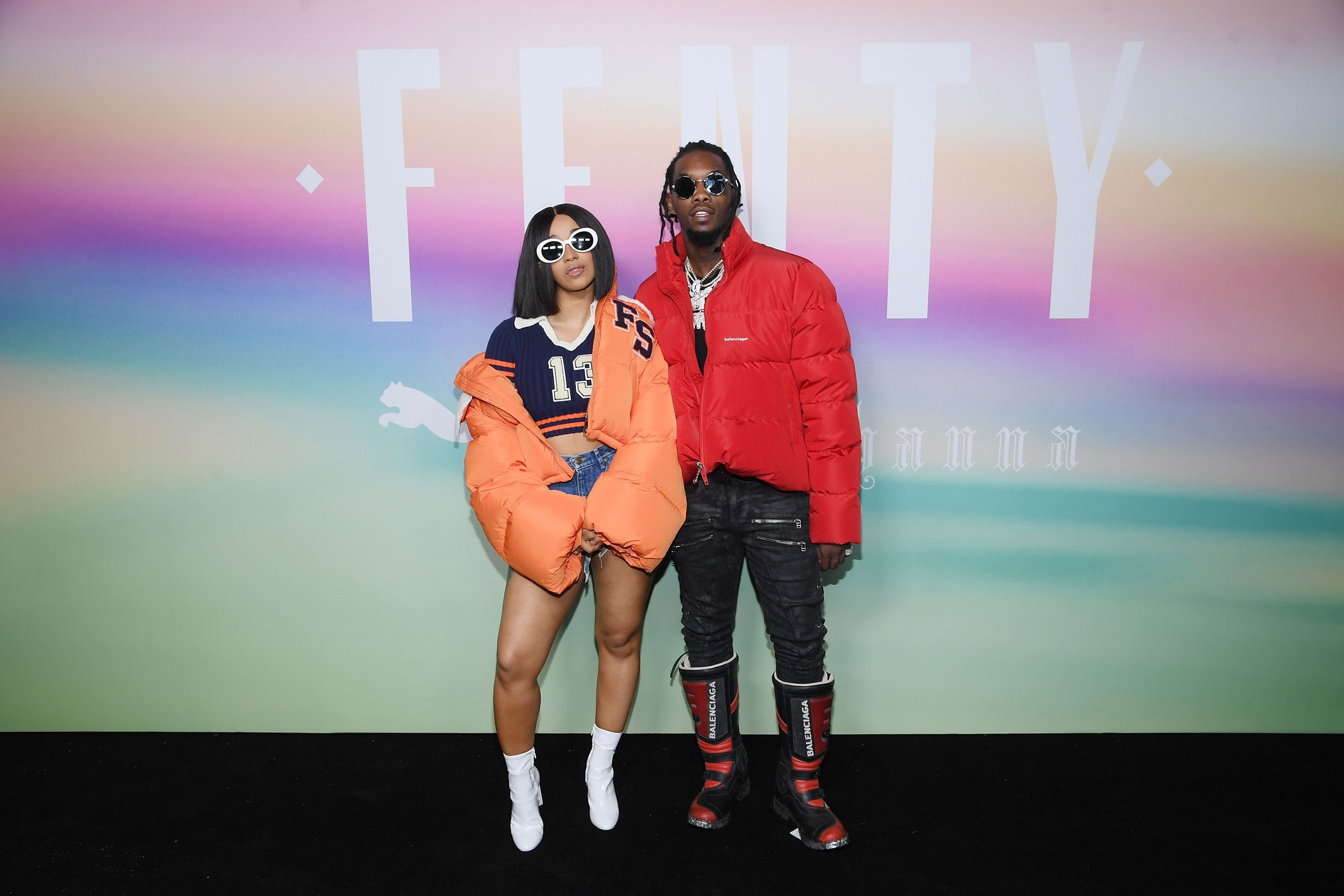 Offset and Cardi B attending the Fenty Puma by Rihanna event in September 10, 2017 in New York | Source: Getty Images