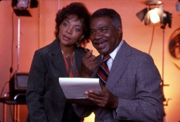 Married American actors and Civil Rights activists Ruby Dee and Ossie Davis (1917 - 2005) in a recording studio, New York, New York, 1990s   Photo: Getty Images