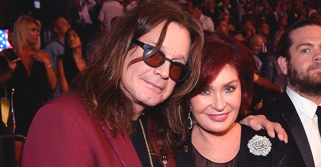 Sharon Osbourne Stuns in Gorgeous White Dress in Pic with Husband Ozzy as She Celebrates His 71st Birthday