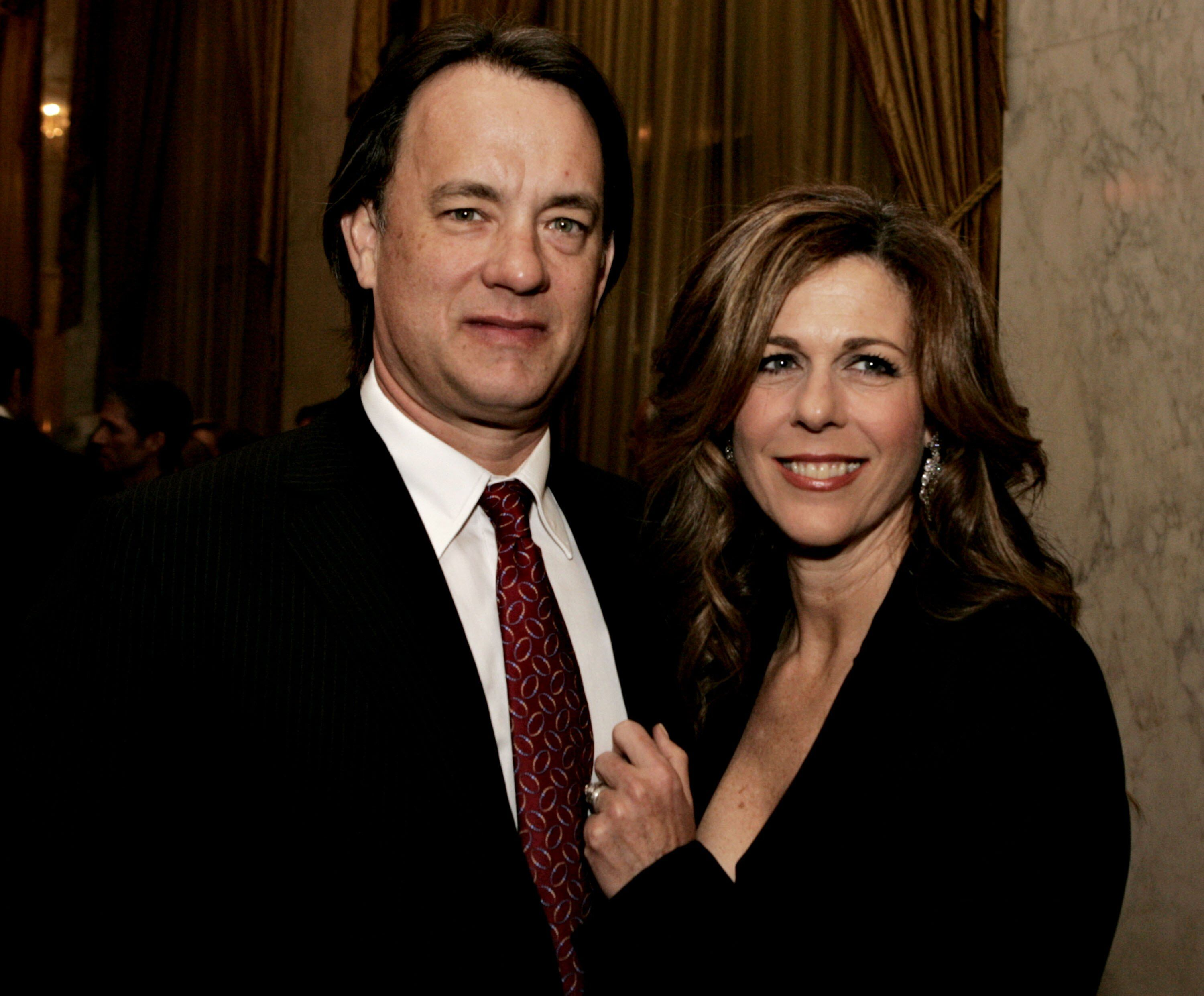 Tom Hanks and actress Rita Wilson speak during the EIF's Women's Cancer Research Fund honoring Melissa Etheridge. | Source: Getty Images