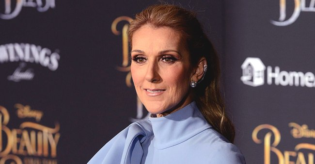 Celine Dion Flaunts Slim Figure in Blue Miniskirt and Chic High Heeled Leather Boots in Manhattan