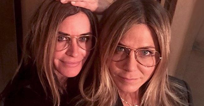 Courteney Cox Playfully Beats BFF Jennifer Aniston in a Friendly Game of Pool