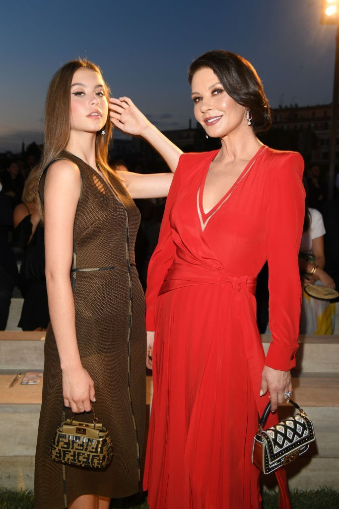 Catherine Zeta Jones and Carys Zeta Douglas attend the Fendi Couture Fall Winter 2019/2020 Show  | Getty Images