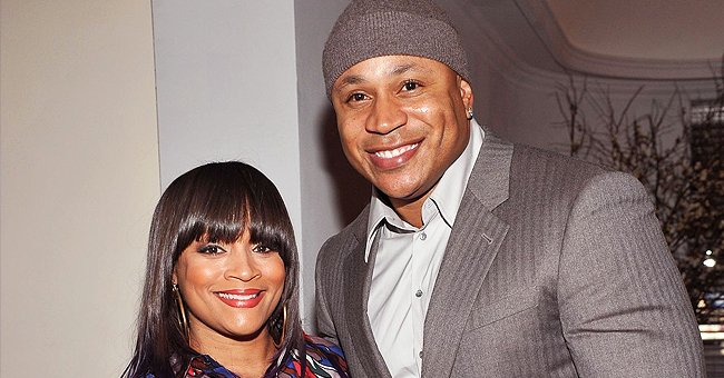 LL Cool J's Wife Simone Smith Looks Stylish With Long Blond Braids & A Long Black Coat at Church