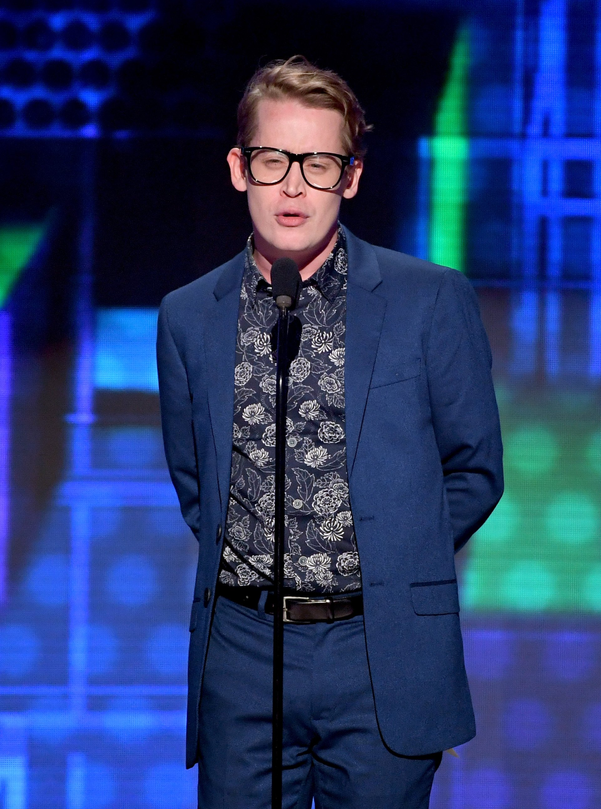 Macaulay Culkin speaks onstage during the 2018 American Music Awards at Microsoft Theater on October 9, 2018 in Los Angeles, California. | Source: Getty Images
