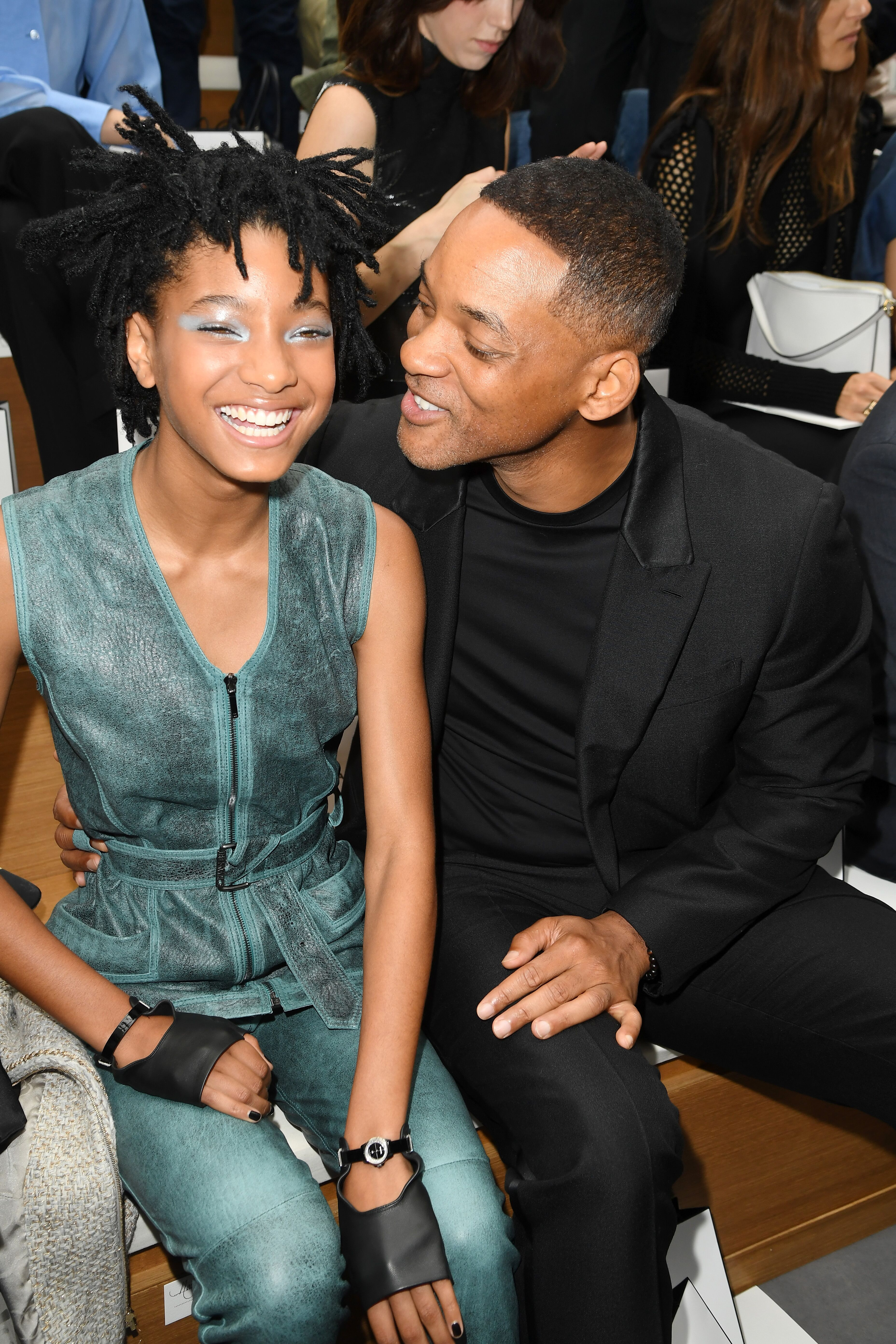 Willow Smith and Will Smith attend the Chanel Haute Couture Fall/Winter 2016-2017 show as part of Paris Fashion Week. | Source: Getty Images