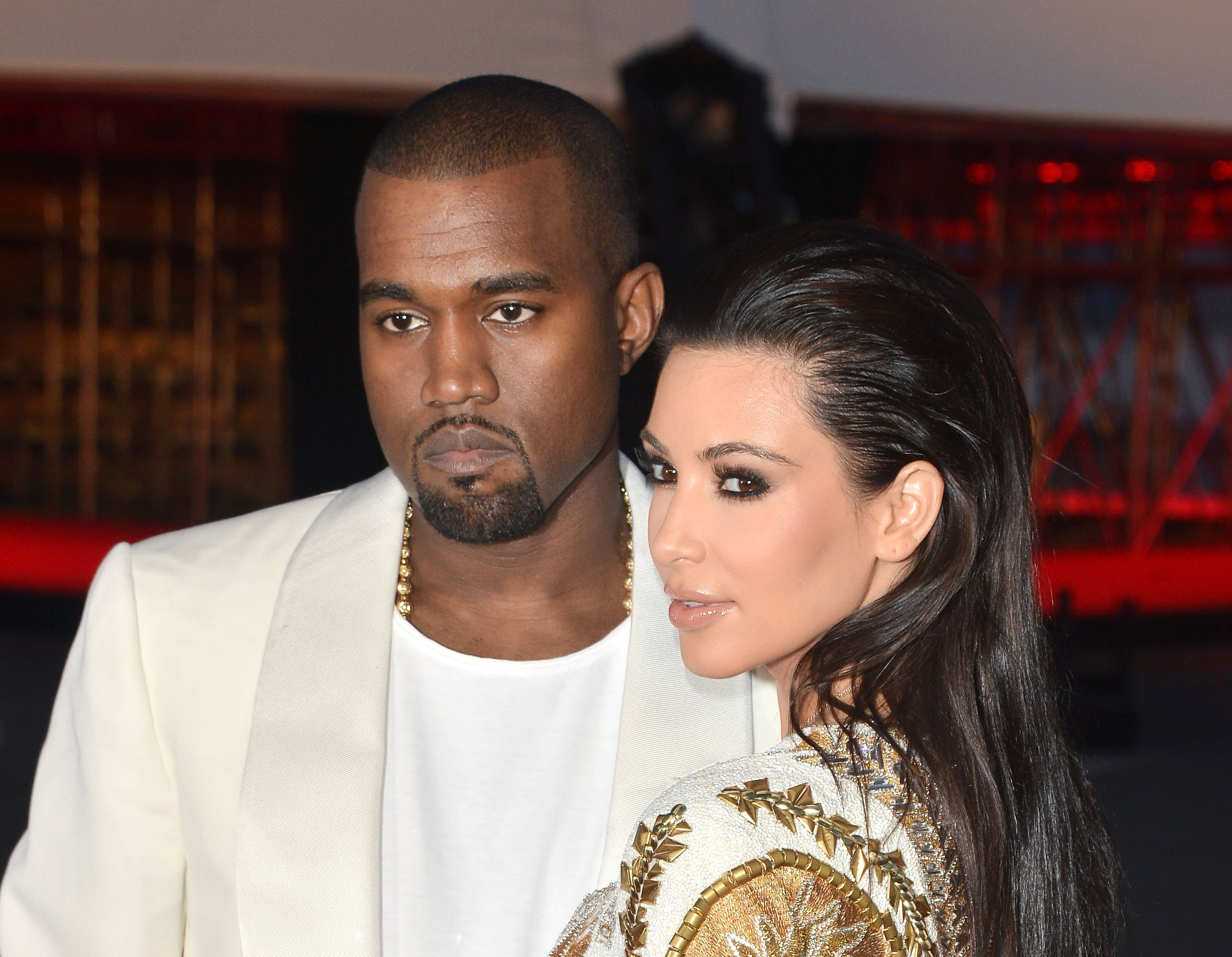"""Kanye West and Kim Kardashian attend the """"Cruel Summer"""" Premiere during the 65th Annual Cannes Film Festival at Palm Beach on May 23, 2012 