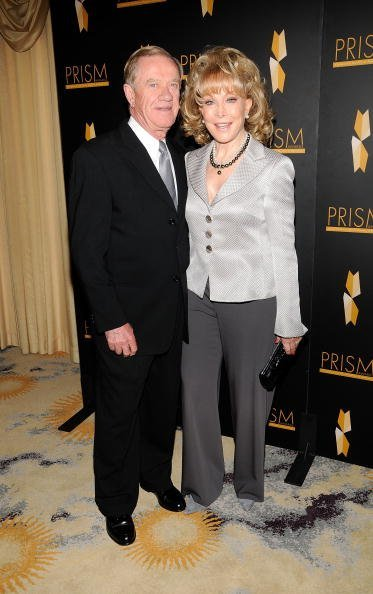 Barbara Eden with husband Jon Eicholtz at the Beverly Hills Hotel on April 22, 2010 in Beverly Hills, California. | Photo: Getty Images