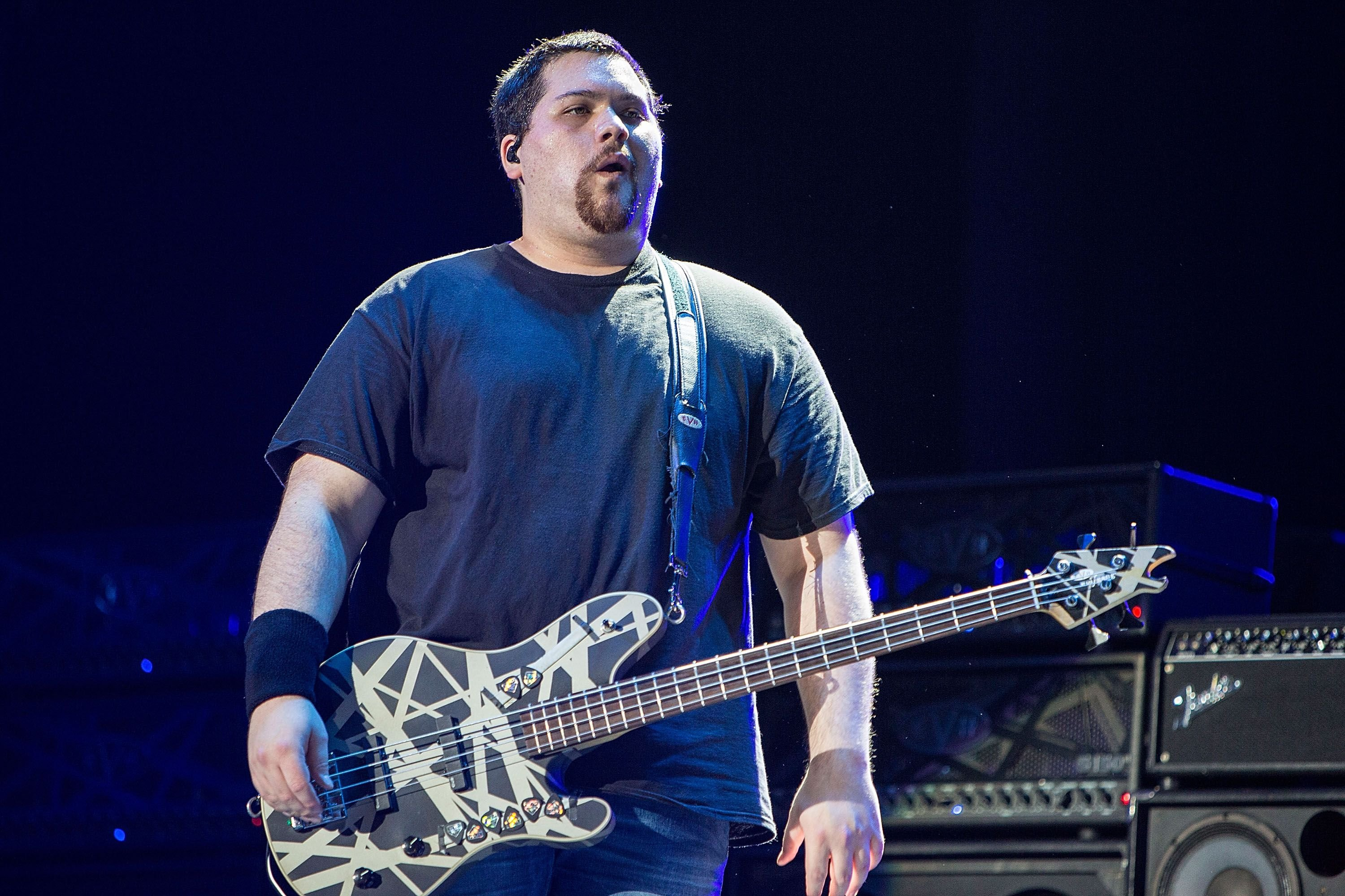 Wolfgang Van Halen performs on stage at theSleep Train Amphitheatre on September 30, 2015, in Chula Vista, California | Photo: Daniel Knighton/Getty Images