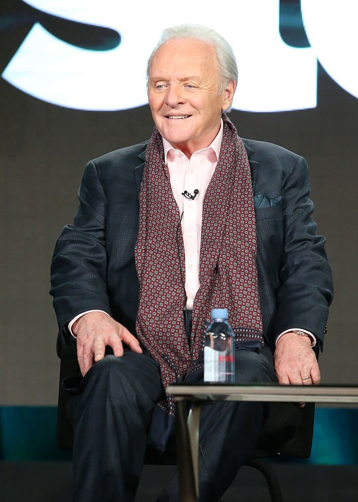 Anthony Hopkins, speaks onstage during The Dresser panel as part of the Starz portion of This is Cable 2016 Television Critics Association Winter Tour | Getty Images