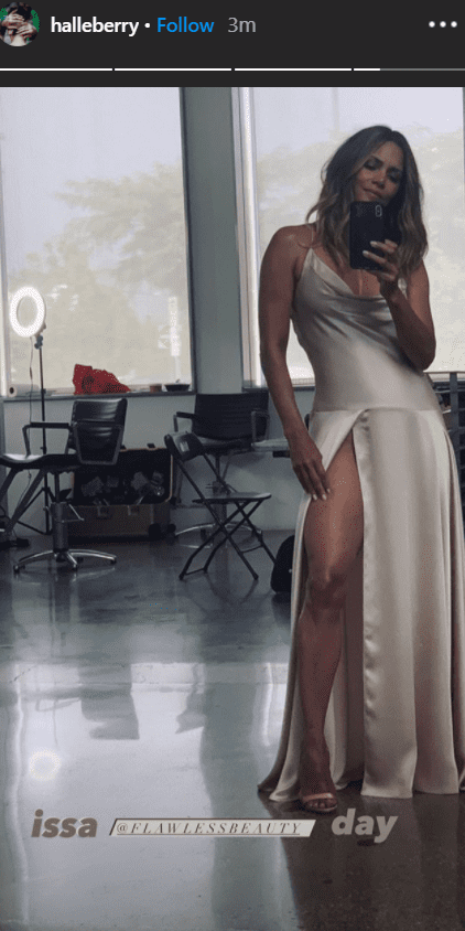 Halle Berry stuns in a sultry satin dress. | Source: Instagram/halleberry