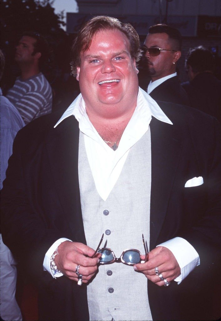 """Chris Farley at the """"Excess Baggage"""" Los Angeles Premiere 