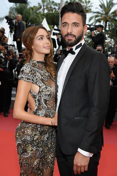 "Nabilla Benattia et Thomas Vergara assistent à la projection de ""Solo : A Star Wars Story"" lors du 71ème Festival de Cannes au Palais des Festivals le 15 mai 2018 à Cannes. 
