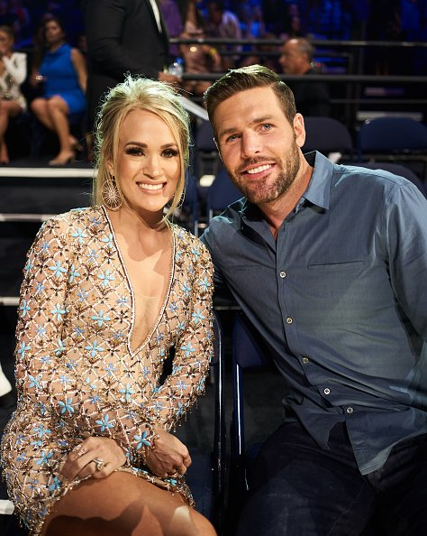 Carrie Underwood and Mike Fisher at Bridgestone Arena on June 05, 2019 in Nashville, Tennessee. | Photo: Getty Images