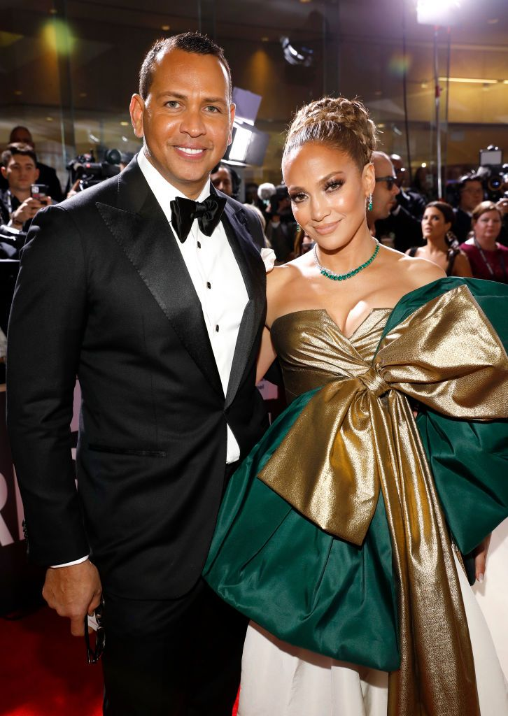Alex Rodriguez and Jennifer Lopez at the 77th Annual Golden Globe Awards held at the Beverly Hilton Hotel on January 5, 2020   Photo: Trae Patton/NBC/NBCU Photo Bank/Getty Images