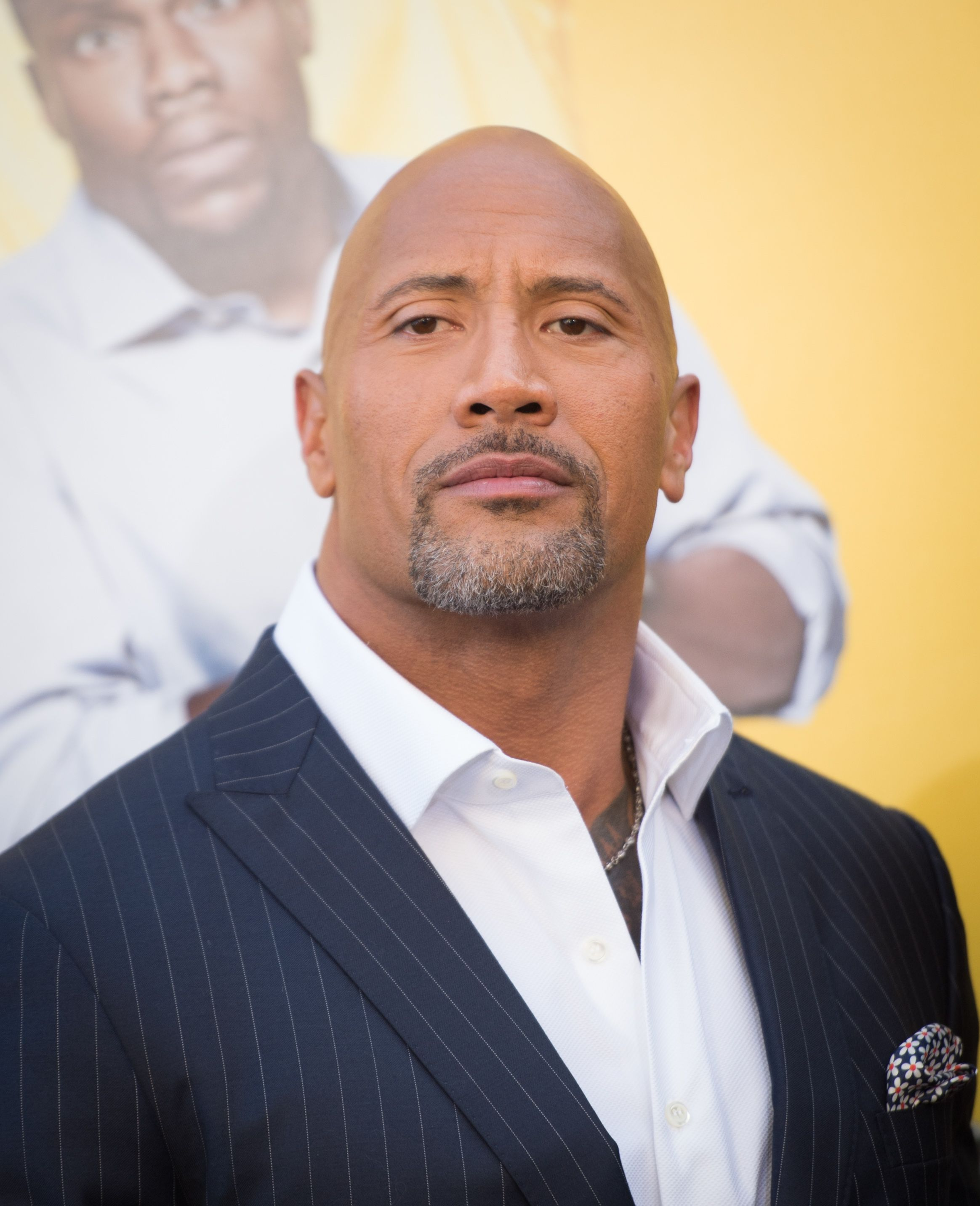 """Actor Dwayne Johnson at the premiere of Warner Bros. Pictures' """"Central Intelligence"""" at Westwood Village Theatre on June 10, 2016 in Westwood, California 