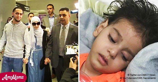 Mamá yemení finalmente llega a San Francisco para despedirse de su hija moribundo de 2 años