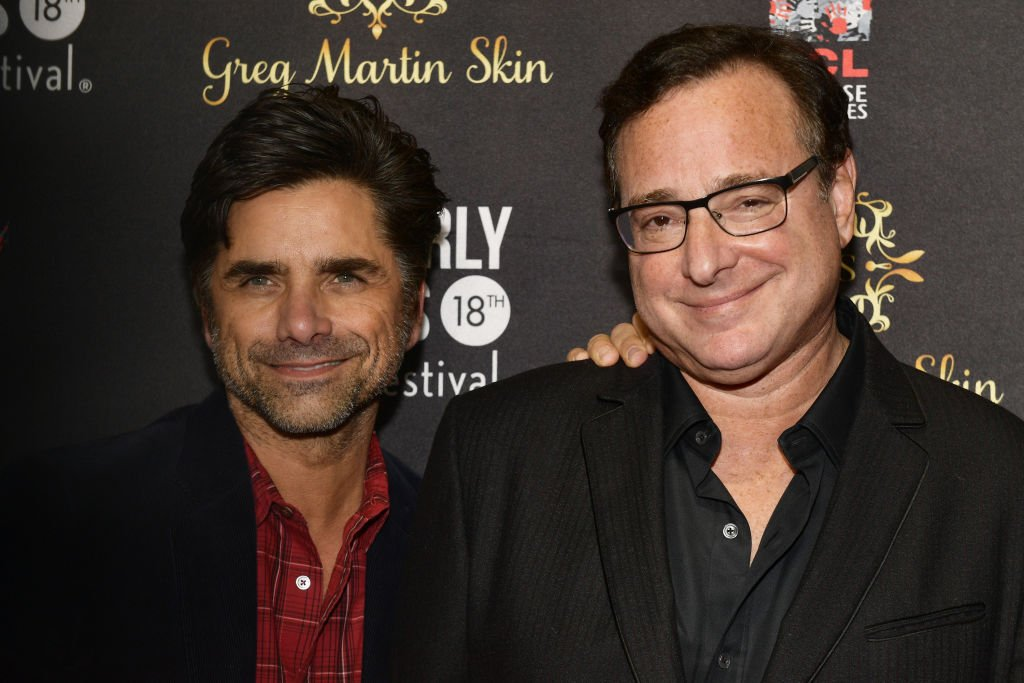 """""""Full House"""" co-stars John Stamos and Bob Saget at the 18th Annual International Beverly Hills Film Festival Opening Night Gala Premiere of """"Benjamin"""" in April 2018. 
