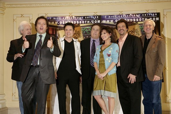 "The Osmonds Donny, Alan, Marie and Jay during a photocall to promote their 50th anniversary DVD ""The Osmonds Reunited Live in Las Vegas."" 