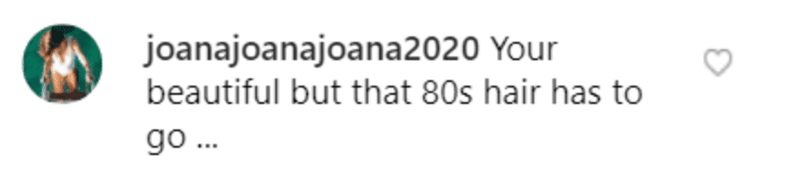 Fan's comment on Theresa Caputo's post.   Source: Instagram/theresacaputo