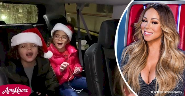 Mariah Carey's beautiful kids show off their voices while singing an iconic Christmas song