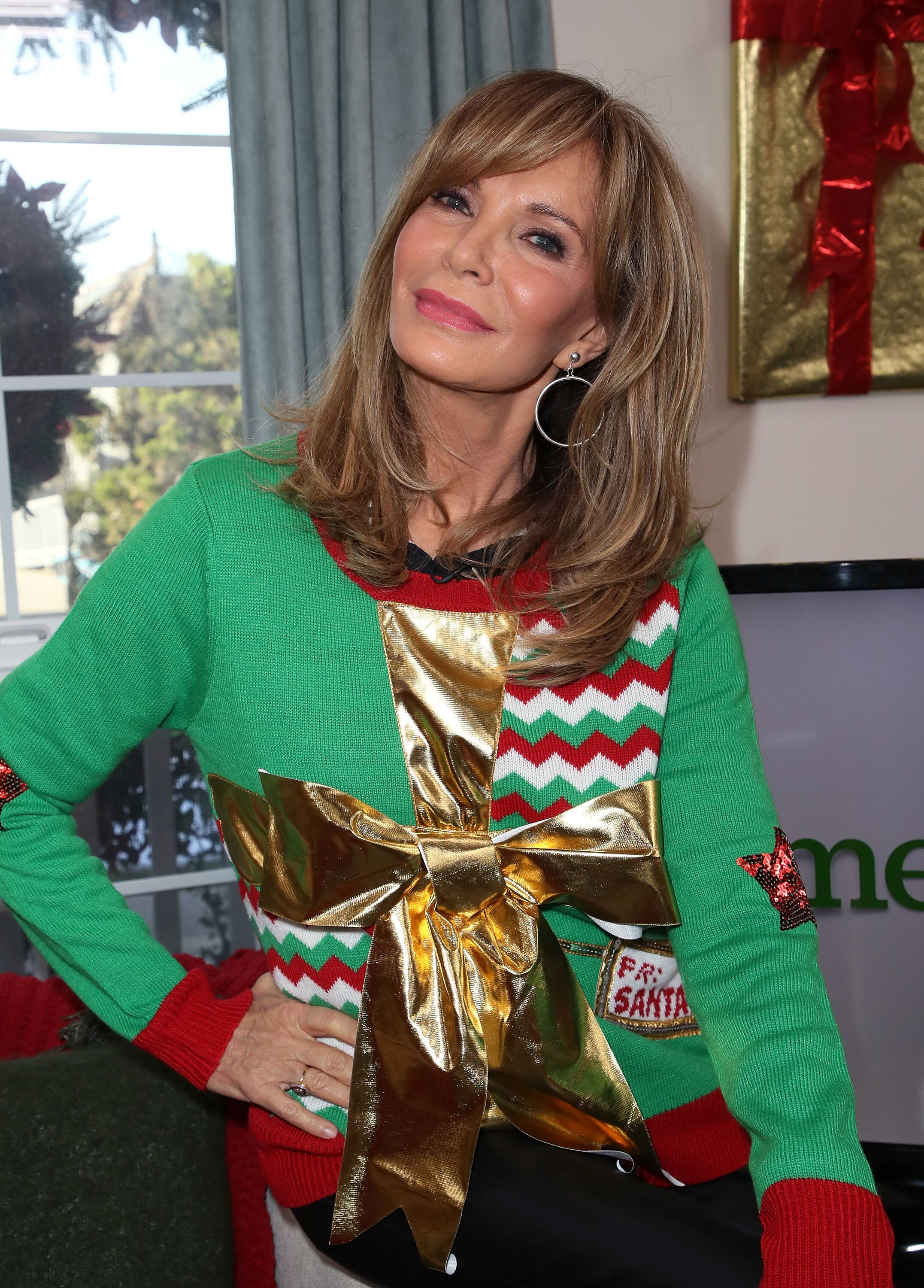 """Jaclyn Smith visits Hallmark's """"Home & Family"""" at Universal Studios Hollywood on November 28, 2017 in Universal City, California.   Source: Getty Images"""