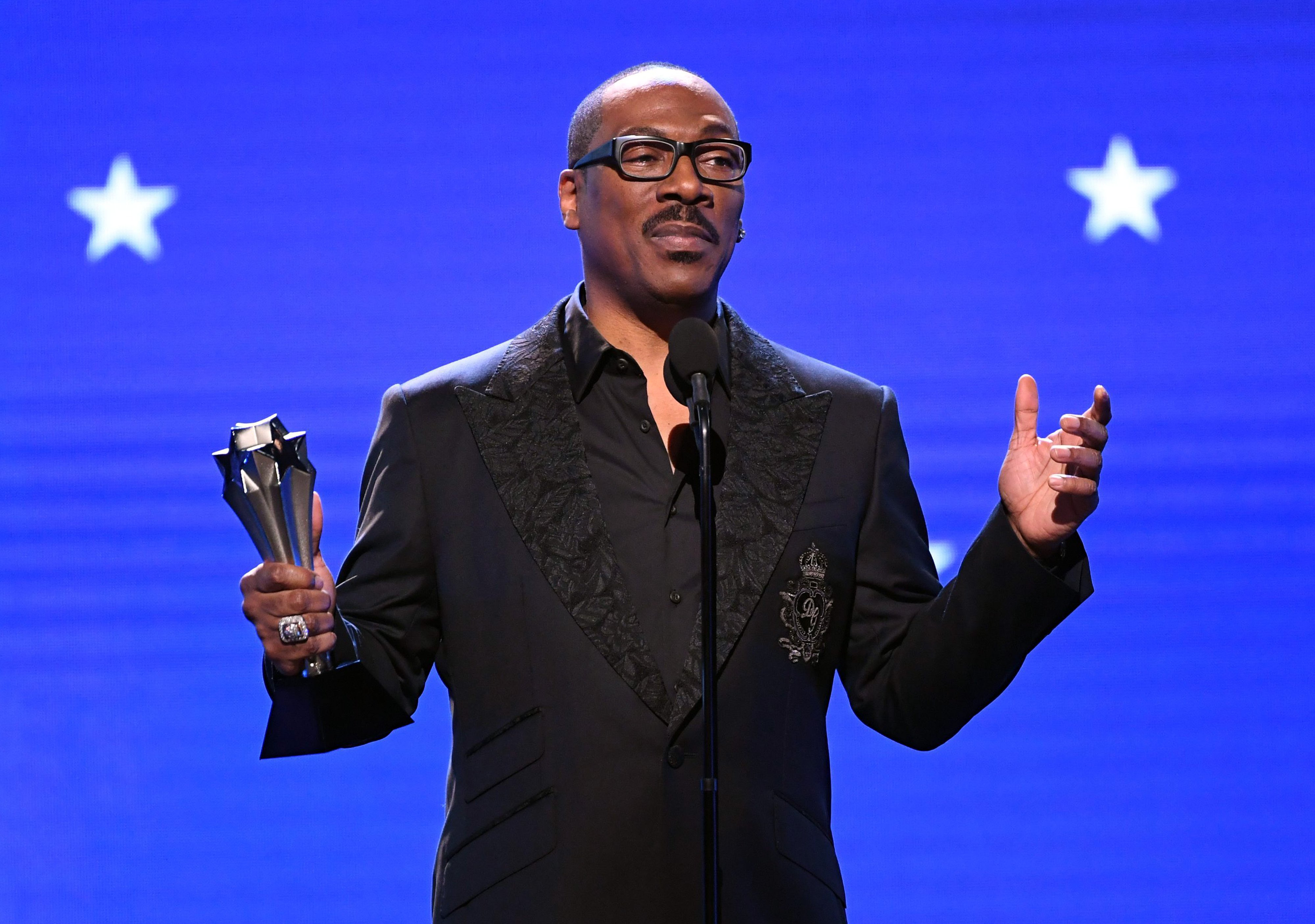 Eddie Murphy accepts the Lifetime Achievement Award onstage during the 25th Annual Critics' Choice Awards at Barker Hangar on January 12, 2020, in Santa Monica, California. | Photo: Getty Images.