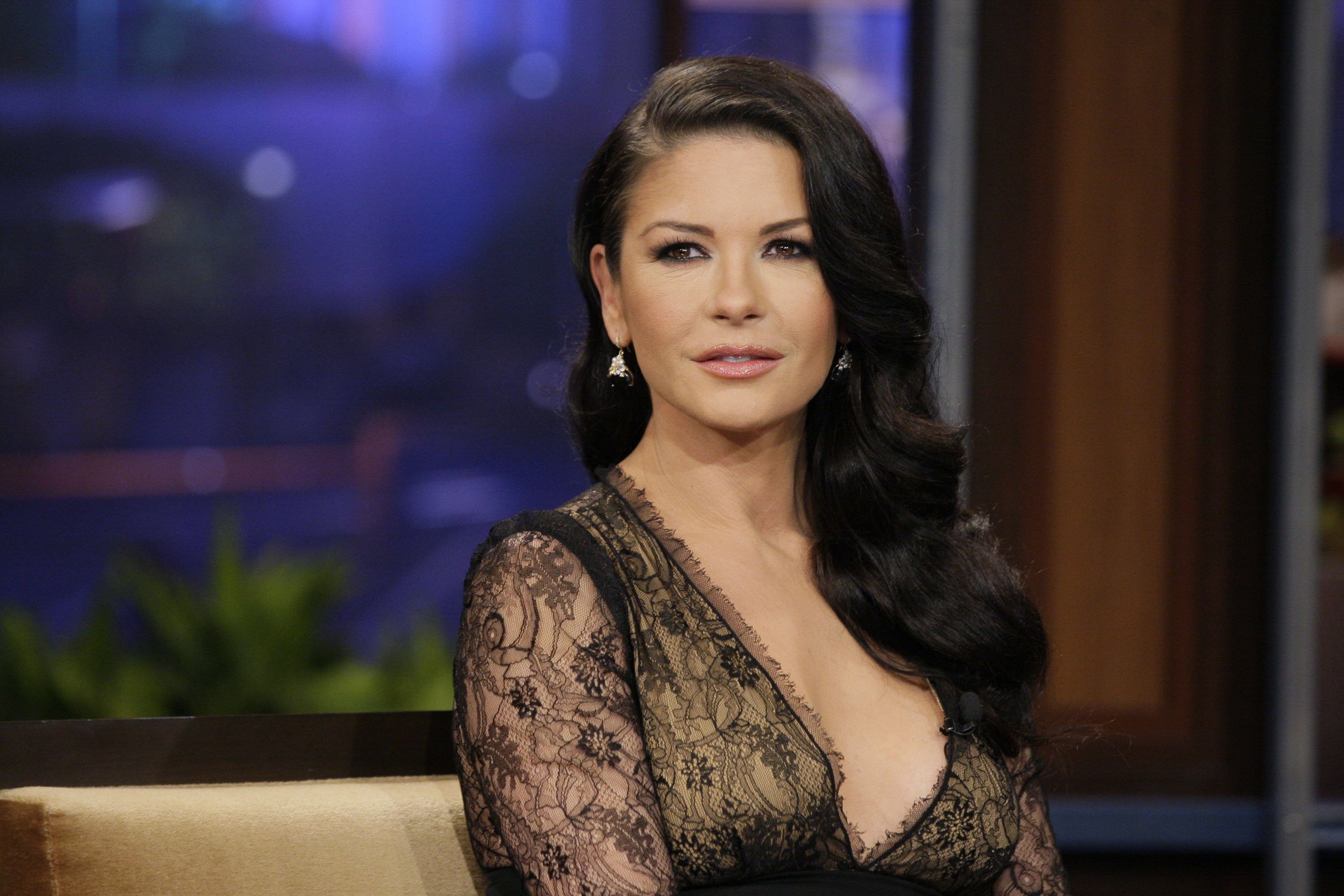 """Catherine Zeta-Jones during an interview on """"The Tonight Show with Jay Leno"""" on January 28, 2013   Photo: Getty Images"""