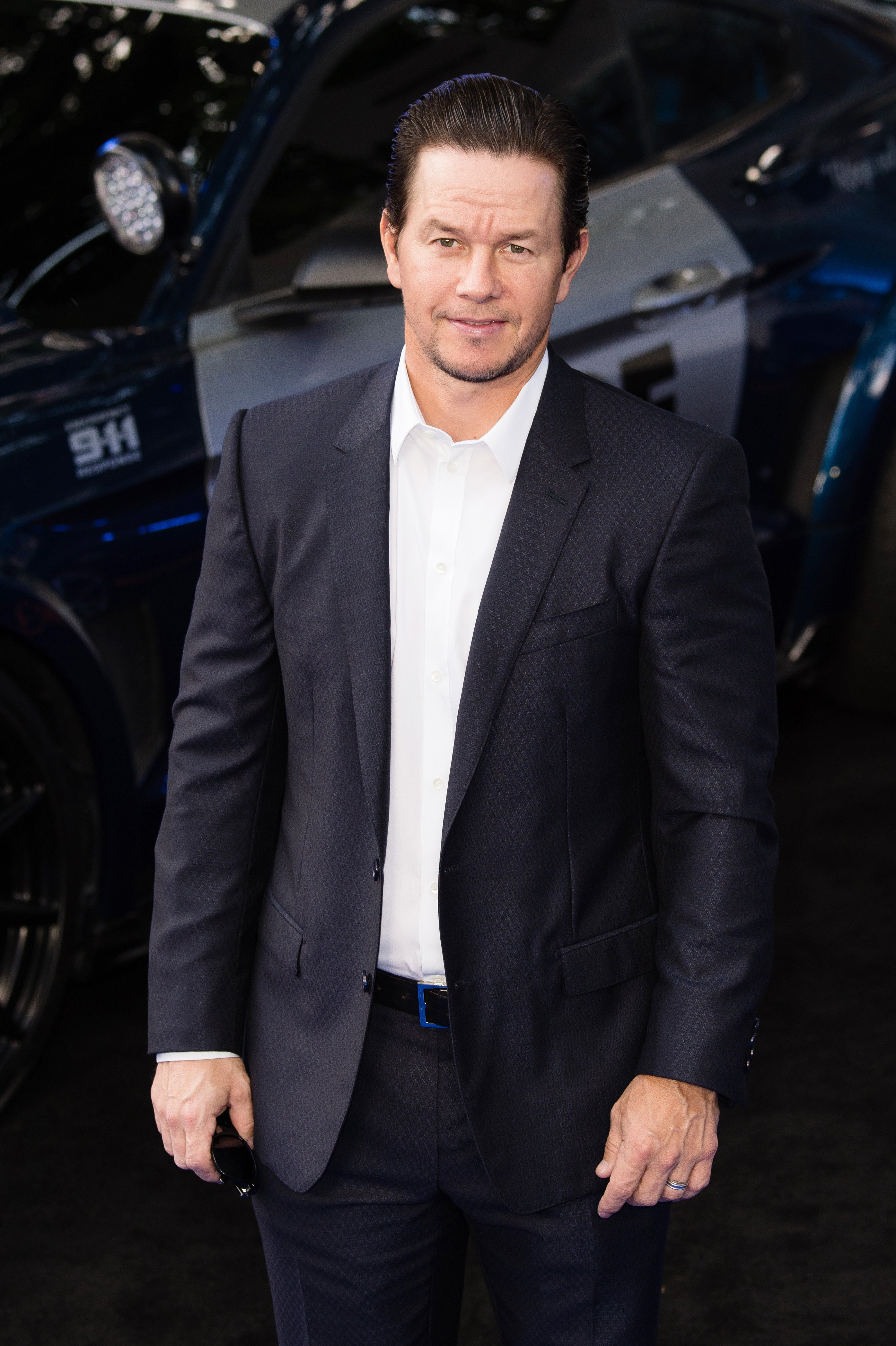 "Mark Wahlberg attends the global premiere of ""Transformers: The Last Knight"" on June 18, 2017, in London, England. 