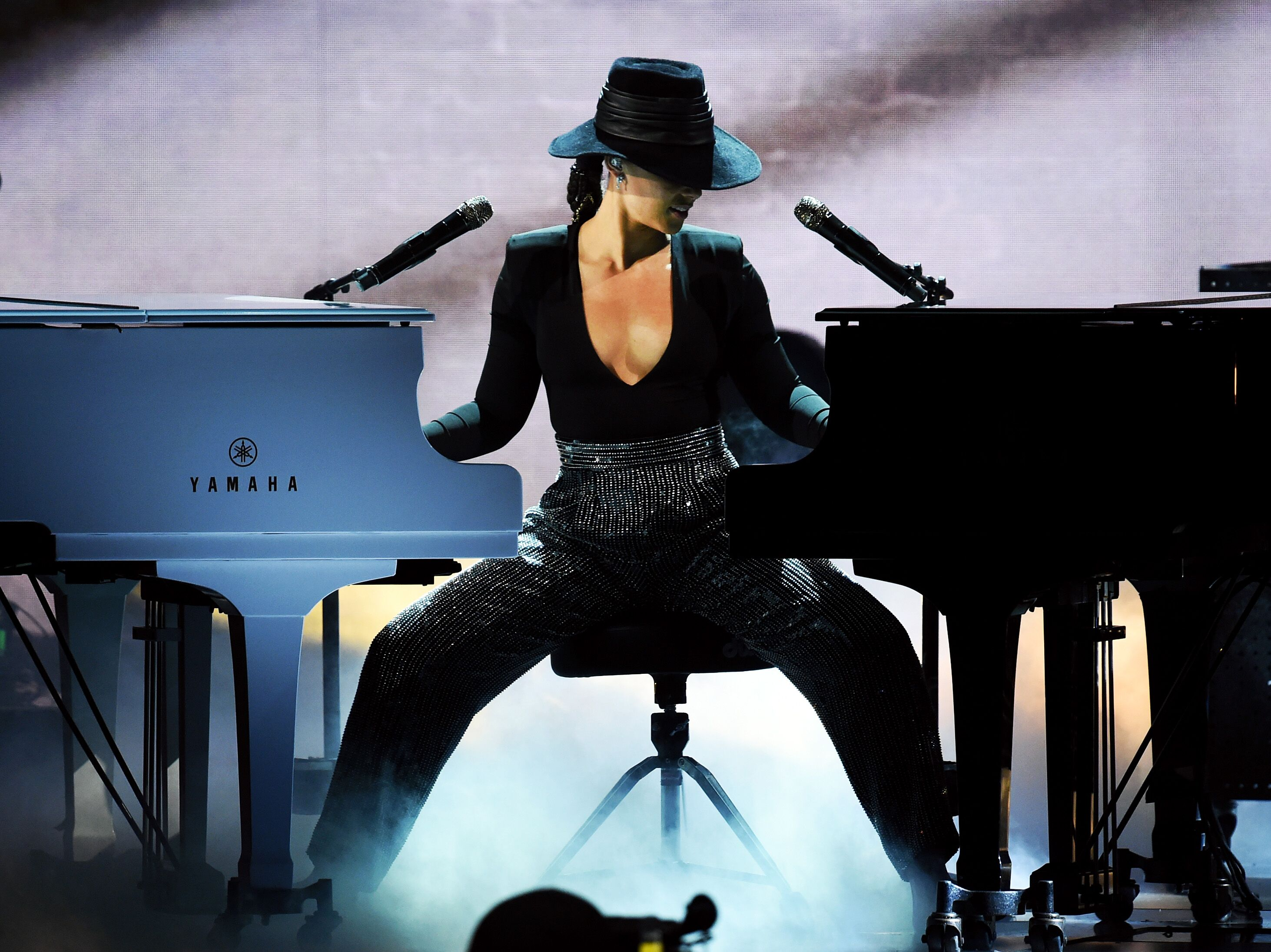Singer/songwriter Alicia Keys in concert/ Source: Getty Images