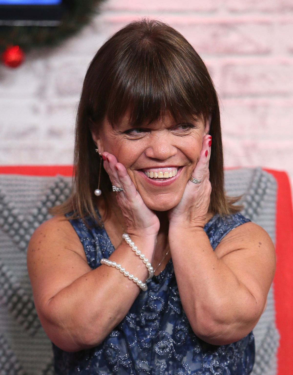 Amy Roloff visits Hollywood Today Live on December 13, 2016, in California | Photo: David Livingston/Getty Images