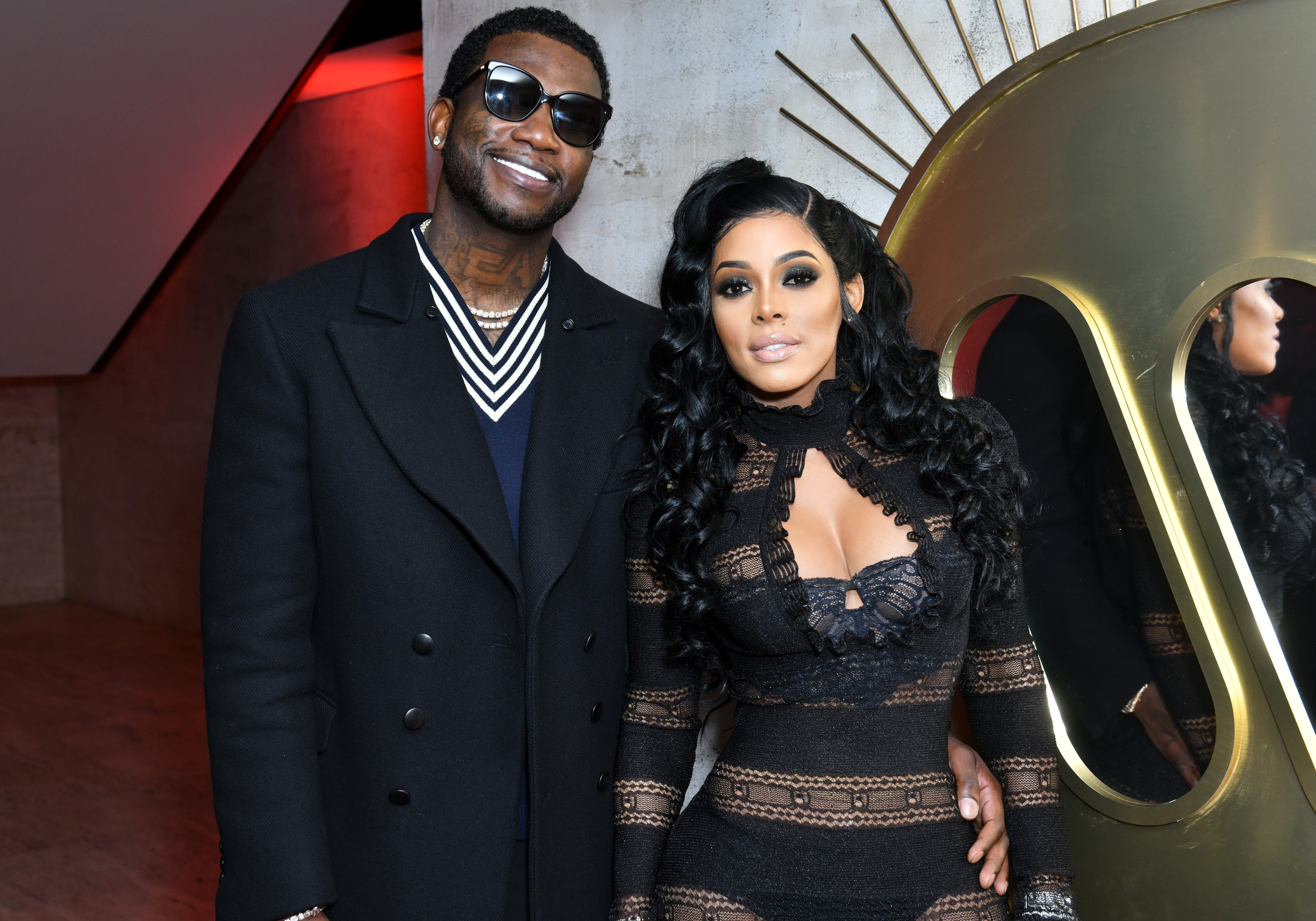 Gucci Mane and Keyshia Ka'oir at the Warner Music Group Pre-Grammy Party on January 25, 2018 in New York City. | Source: Getty Images