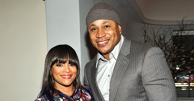 LL Cool J's Wife Simone Looks Glamorous in Red & White Gown Showing Rarely-Seen Chest Tattoo in Family Snap