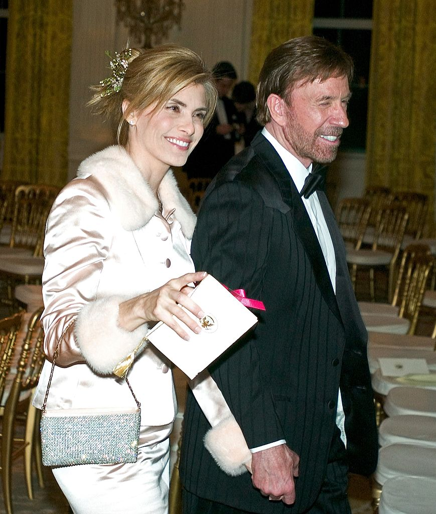 Chuck Norris and his second wife Gena. I Image: Getty Images.