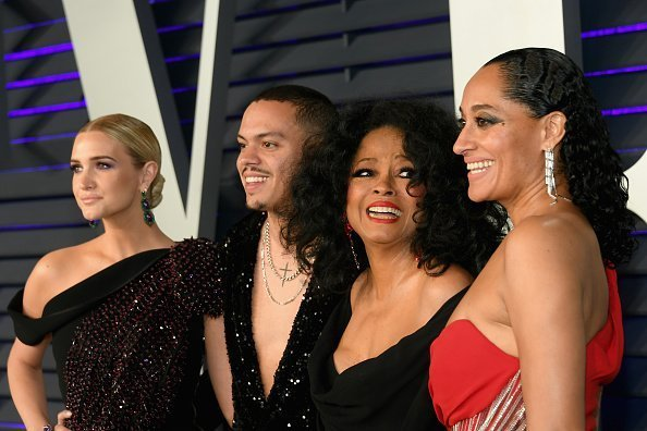 Ashlee Simpson, Evan Ross, Diana Ross, and Tracee Ellis Ross | Photo: Getty Images