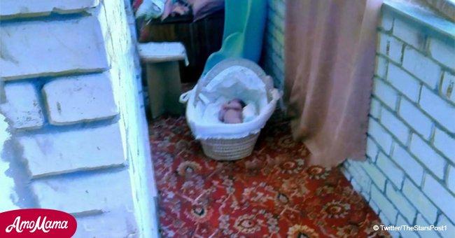 Eine Mutter ließ ihr Baby auf dem kalten Balkon und schickte die Bilder ihrem Ex-Mann